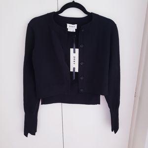 DKNY black button up cardigan